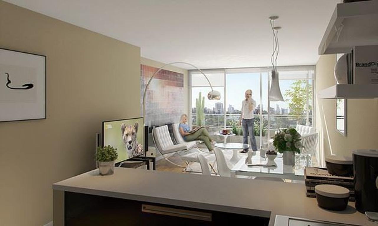 """Emprendimiento """"SOHO CITY"""" en Villa Urquiza, 3 ambientes."""