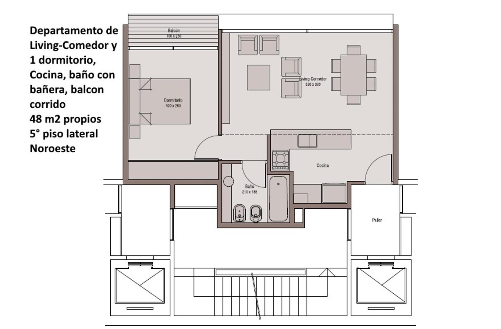 Departamento en Venta en Las Cañitas - 2 ambientes