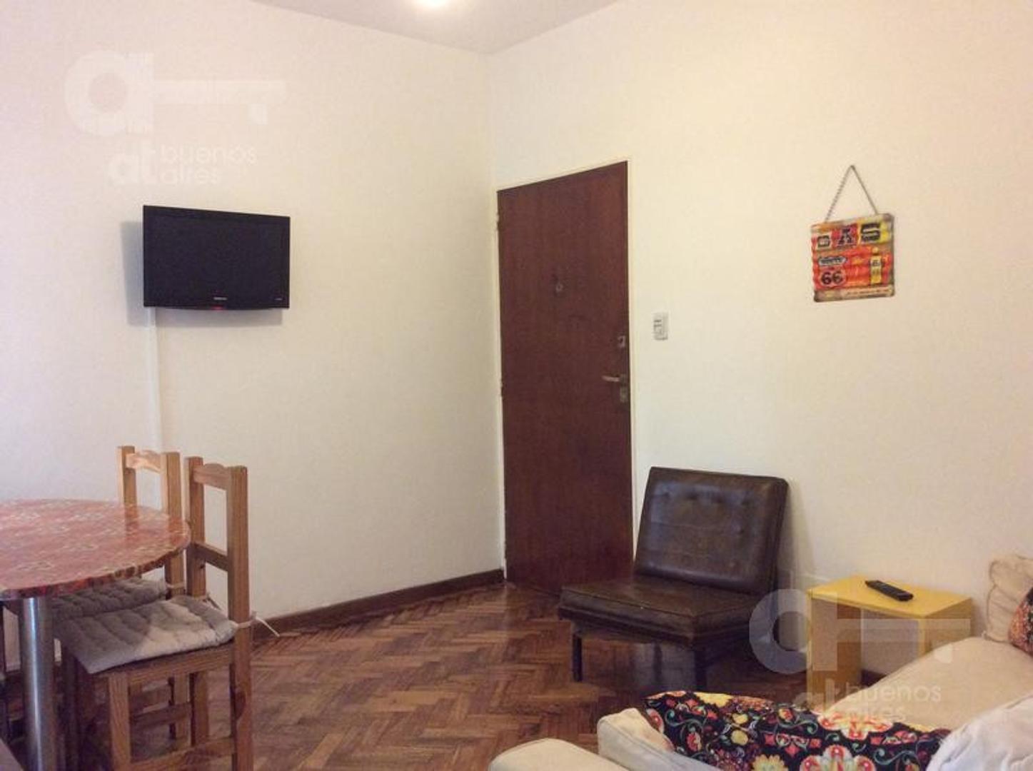 San Telmo, 2 ambientes con patio, alquiler temporario sin garantía