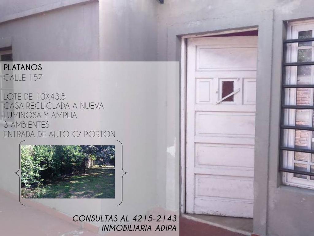 Casa - Platanos Calle 157 e/ 49 y 50