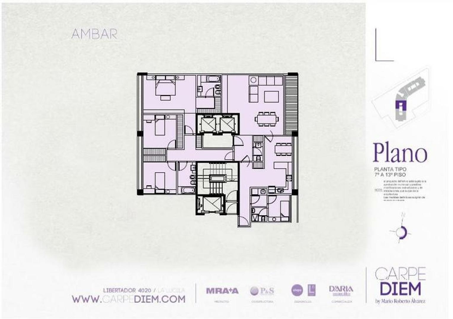 La Lucila., sobre Av. del Libertador. Espectacular piso, vistas al Río.  4 amb con dep, coch  y baul