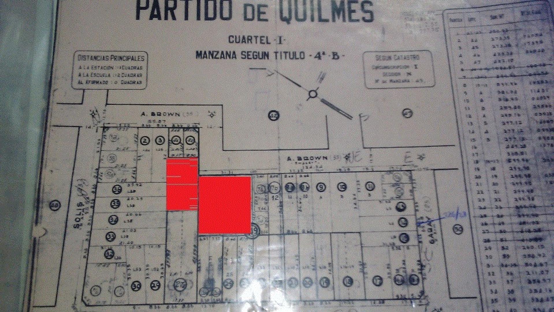 EXCLUSIVA FRACCIÓN DE TERRENO  EN QUILMES 1390 M2  DE TIERRA