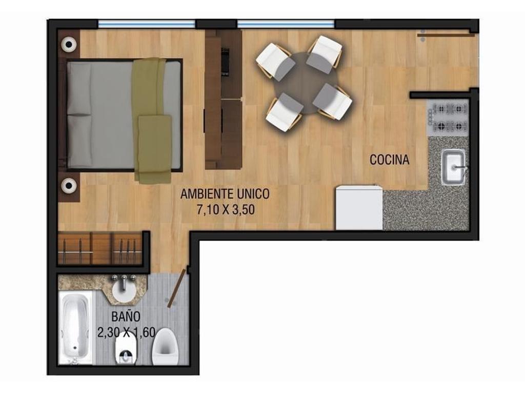 Departamentos en pozo 1 y 2 ambientes - Financiacion - Valentin Alsina Centro - Lanus