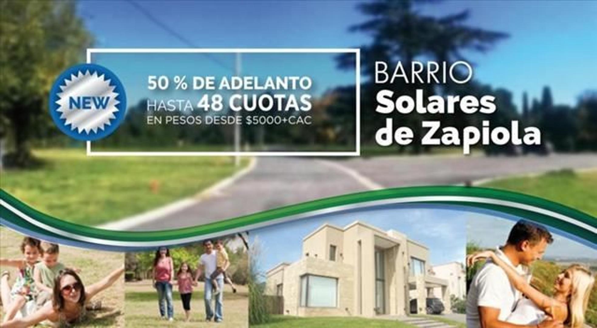 """Terreno en Venta Barrio """" Solares de Zapiola """", Paso del Rey, Moreno"""