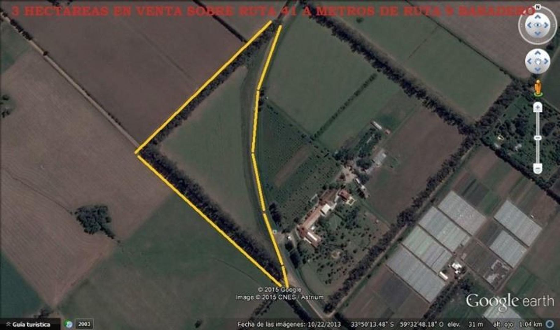 Venta campo 3 hectareas sobre Ruta 41