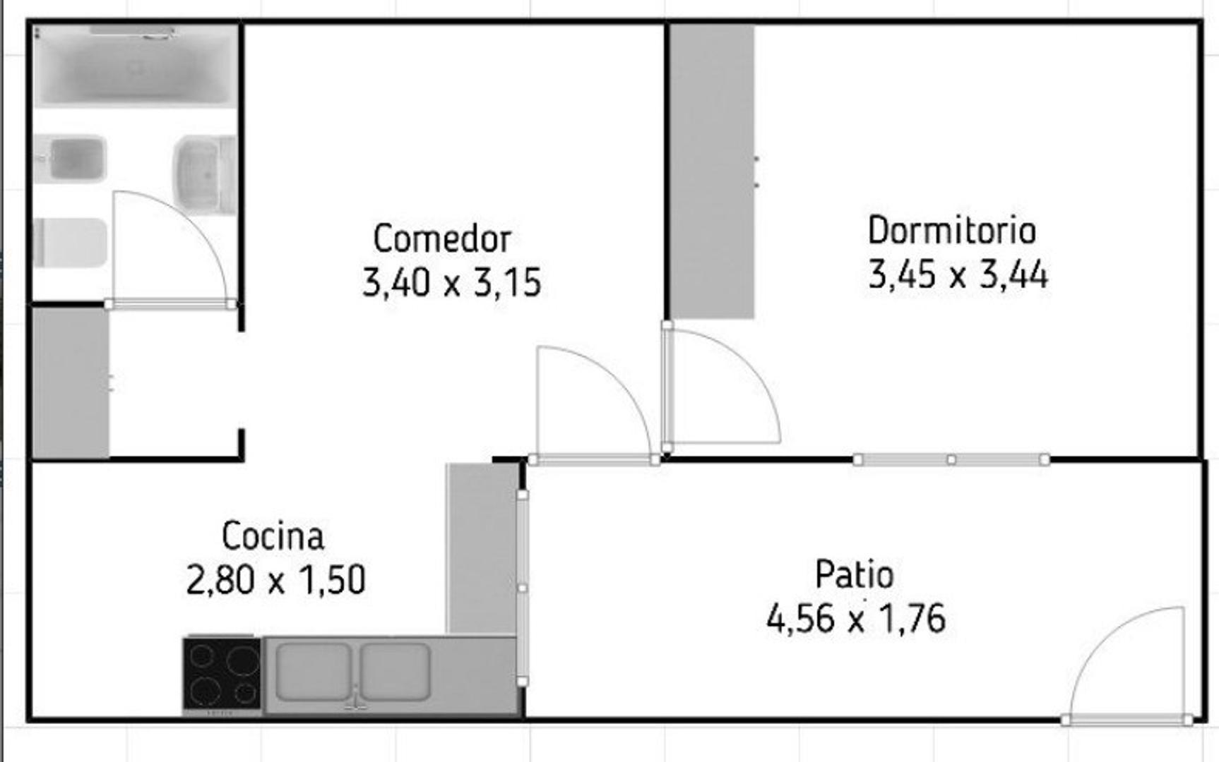 PH al fondo 2 amb con patio y espacio aereo de azotea propio   - Foto 23