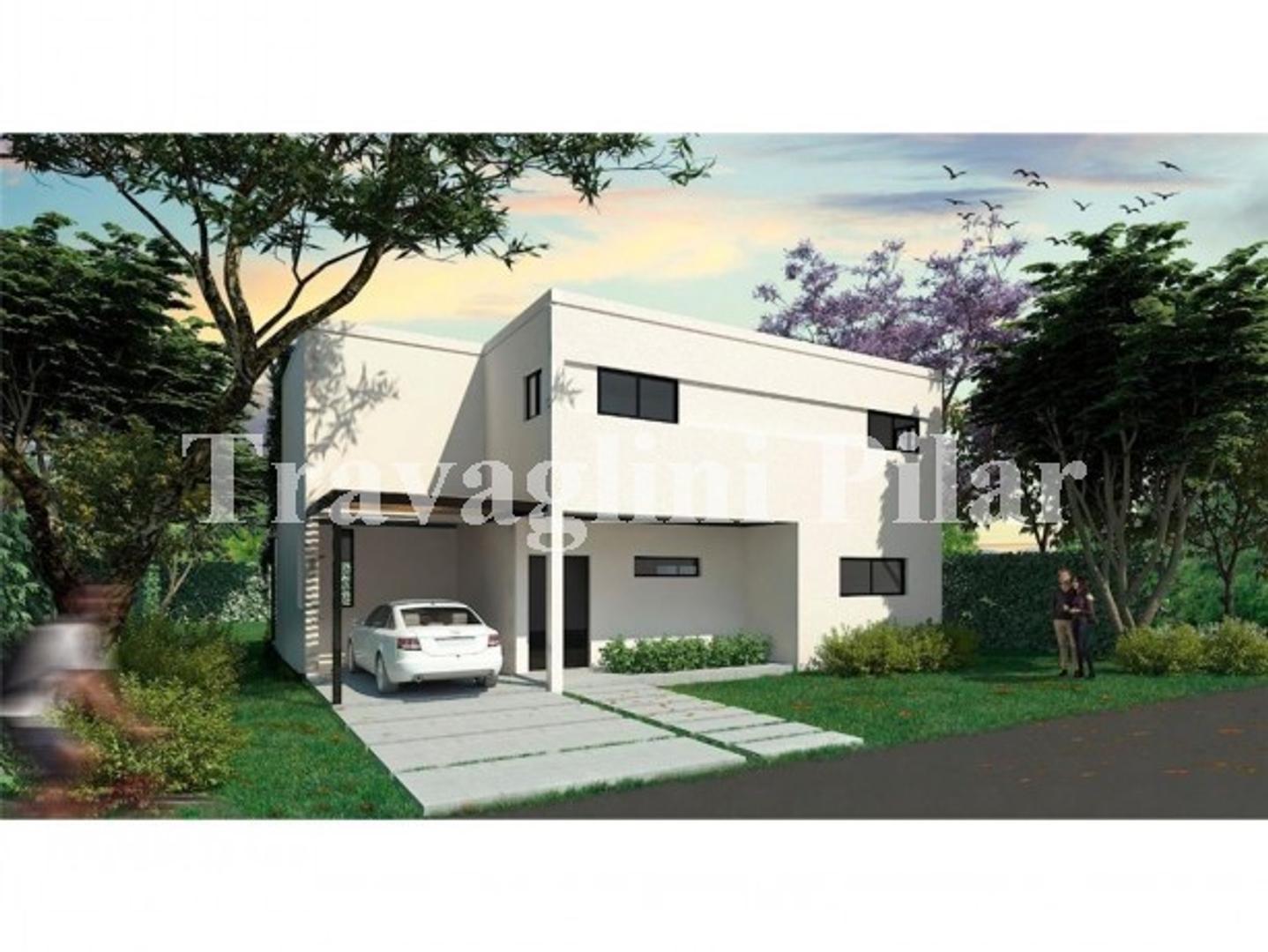 Casa en Venta a estrenar, LAGOON PILAR, 4 dormitorios, estar, play, galeria, parrilla,
