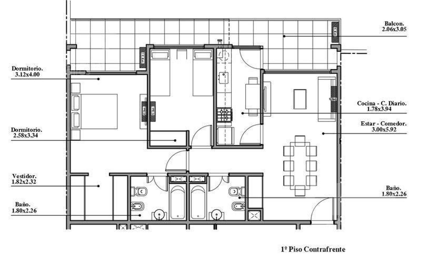 Venta Departamento 3 ambientes con balcón en Pozo- Villa Luro