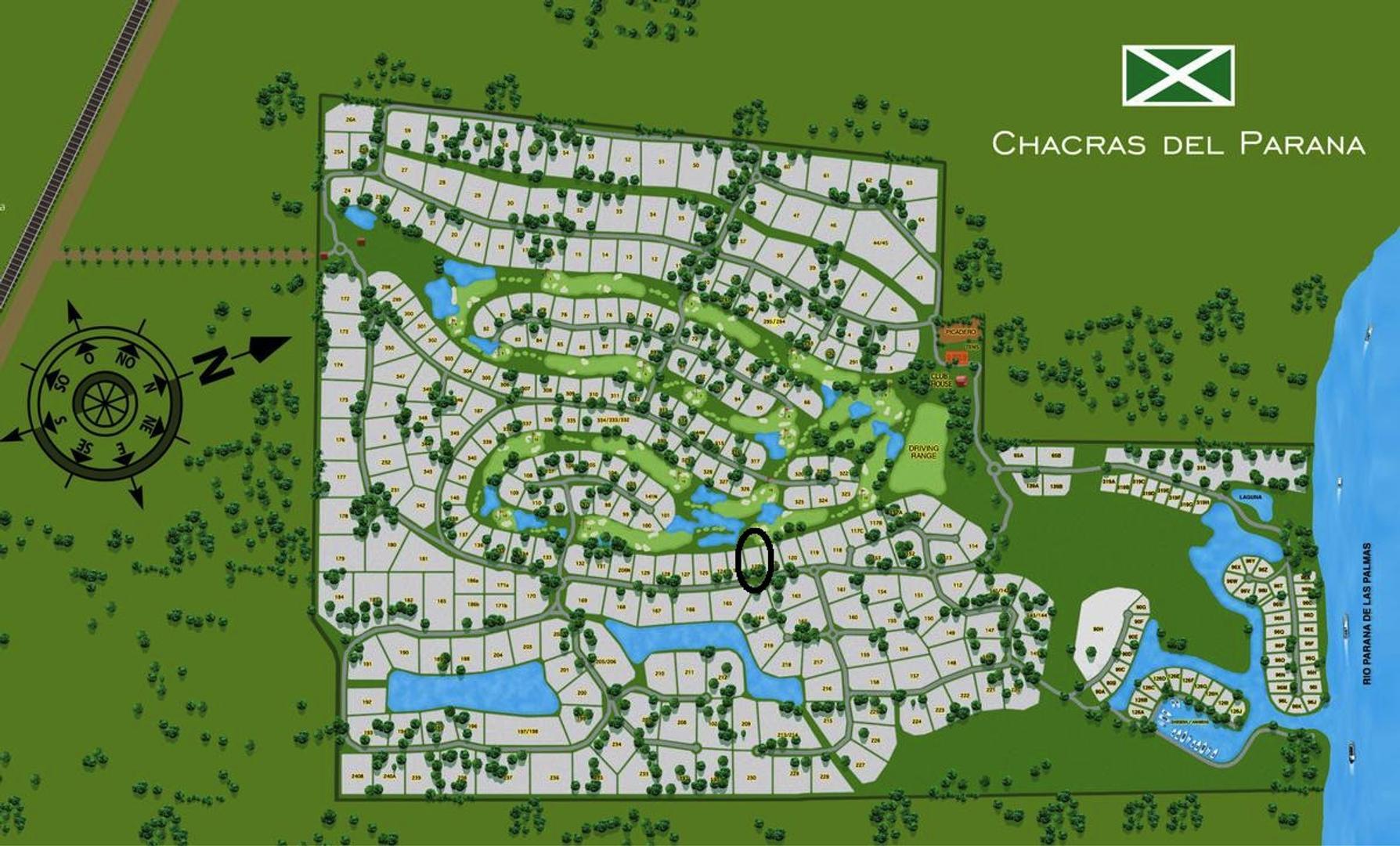 CHACRAS DEL PARANA LOTE 8000 M2 ZARATE