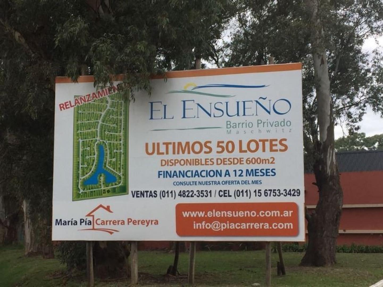Lote de 634 m2 en Bº Cerrado El Ensueño, Ing. Maschwitz!