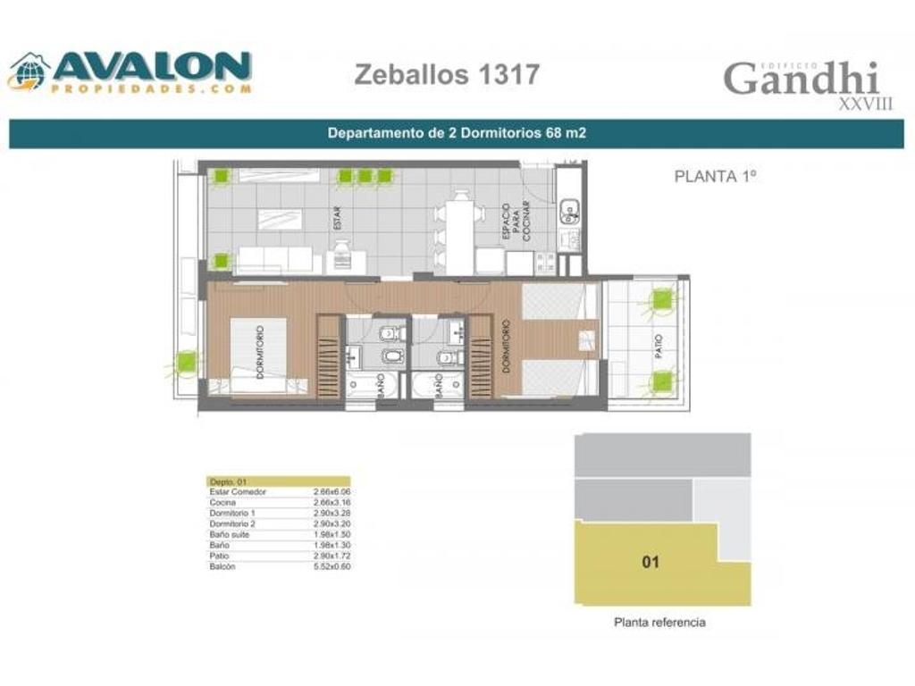 Dos dormitorios , Zeballos 1300, financiacion!!!