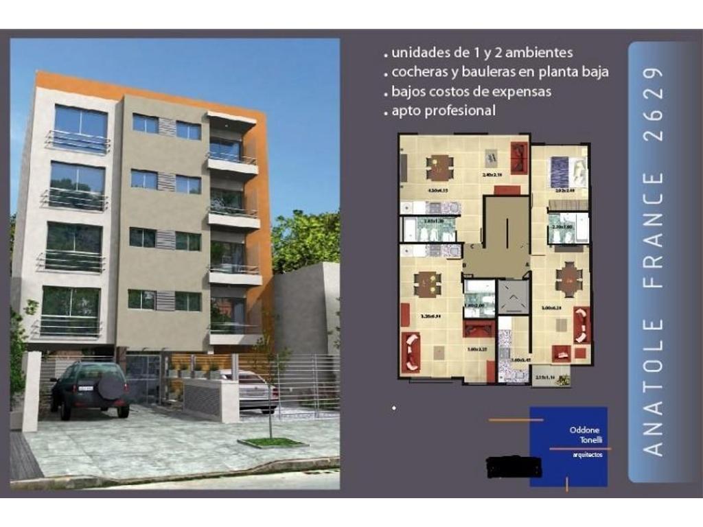 Departamentos 2 ambientes apto profesional, con cochera y baulera, Castelar Centro.