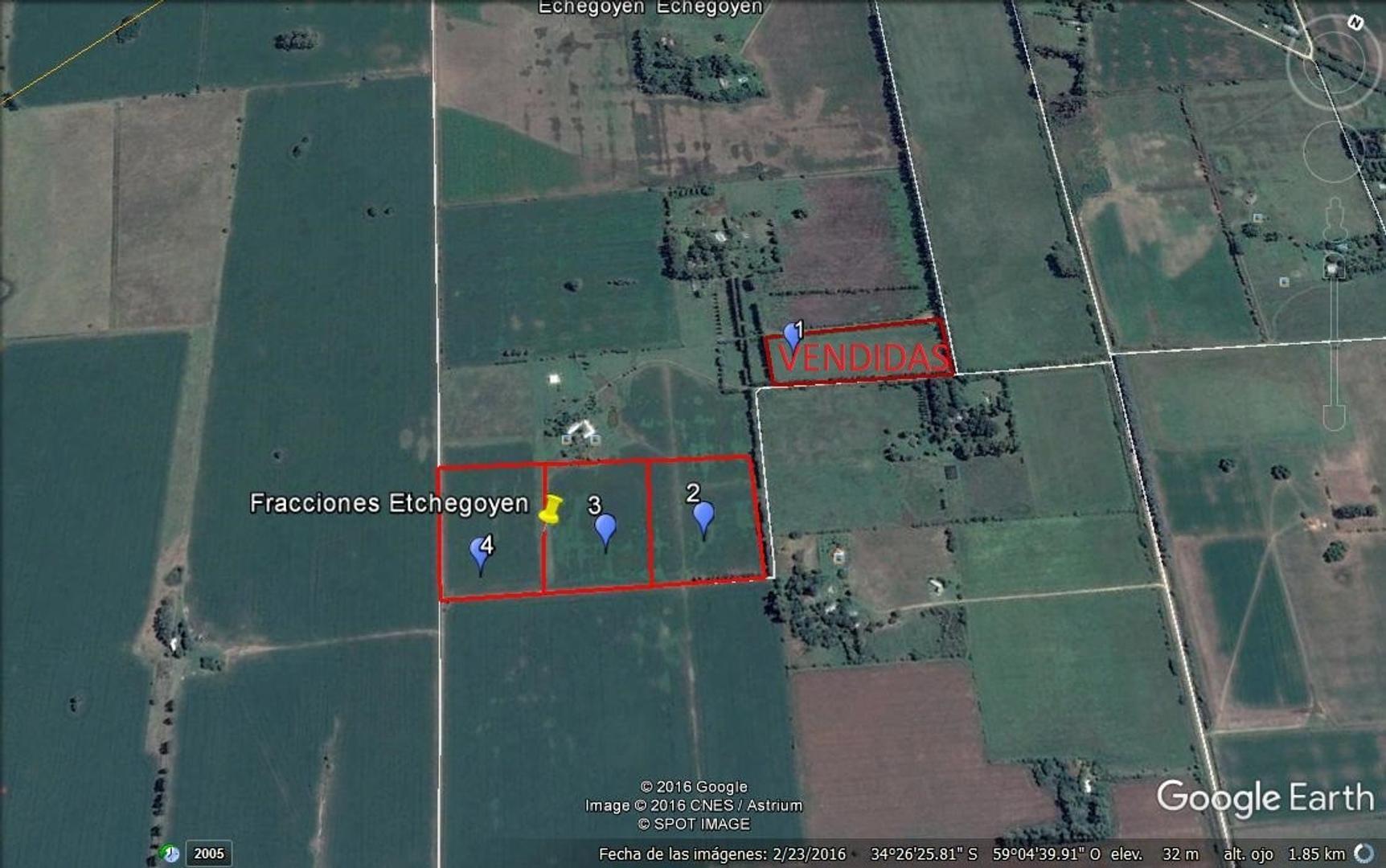 3,7 has. a 3 km de Ruta Provincial 6 , Km 171