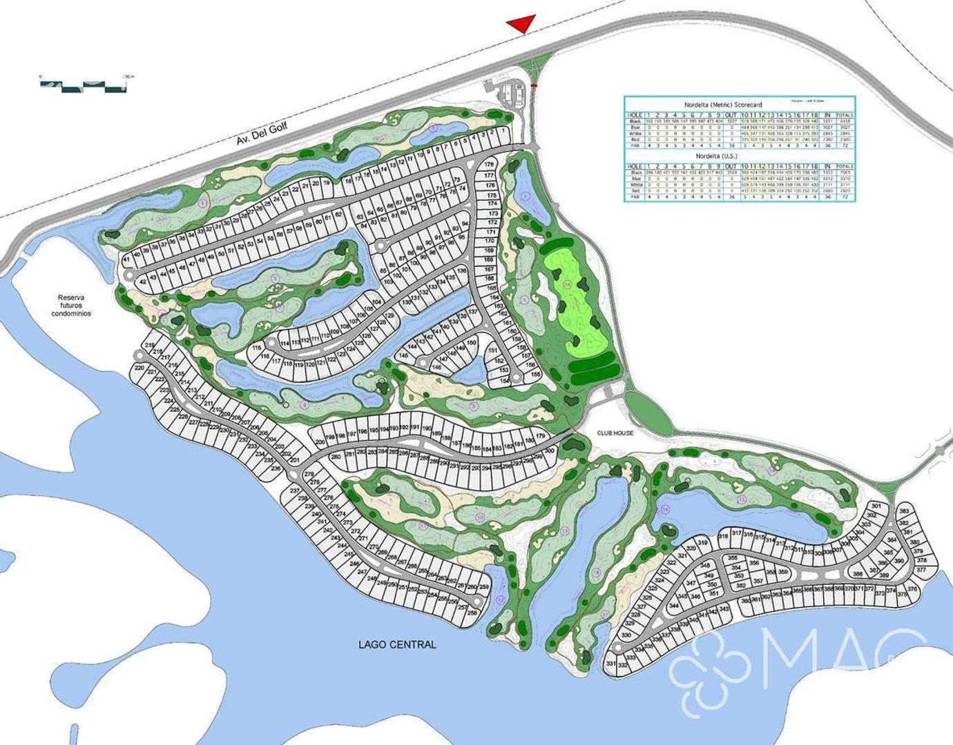 El Golf Lote Único con vista al agua y al golf (1322)