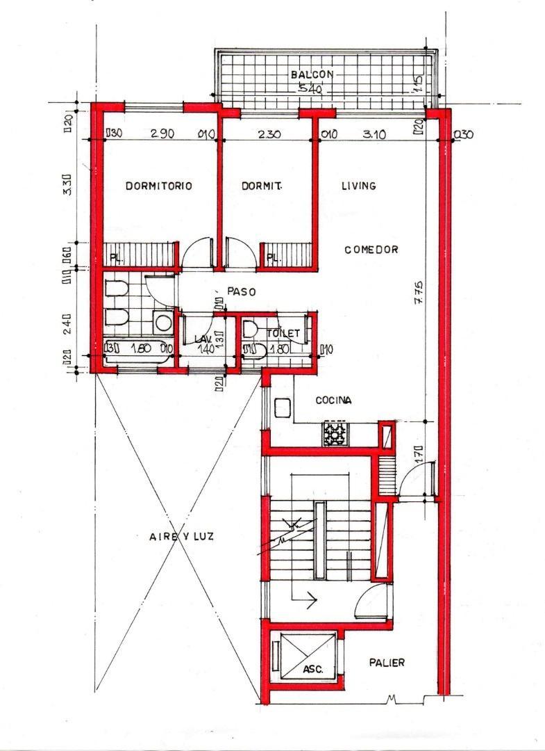 Departamento - 67 m² | 2 dormitorios | 6 años