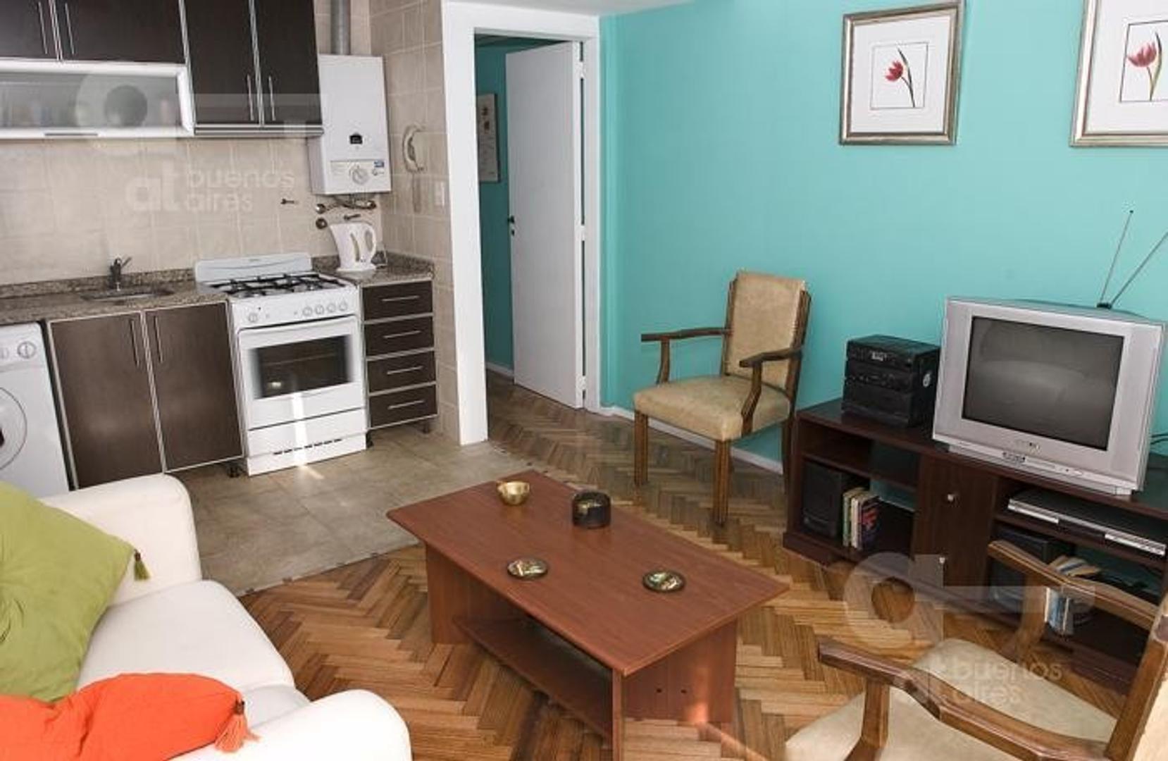 San Telmo, Departamento 2 Ambientes con Balcón Terraza, Alquiler Temporario Sin Garantía!