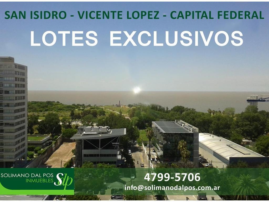 Lotes Exclusivos - SAN ISIDRO - VTE LOPEZ - CAP  FEDERAL -  Excelentes Zonas